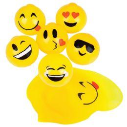 48 Bulk Emoji Splat Toys