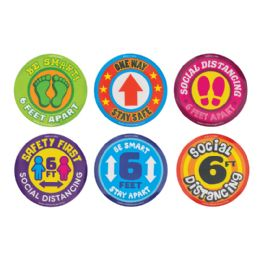 36 Bulk Social Distancing Removeable Floor Stickers