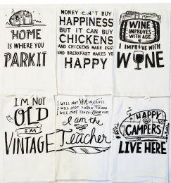 36 of 24 X 25 Assorted Printed Flour Sack Towel