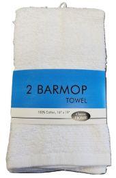 72 of 2 pk 16X9 White Barmop Kitchen Towel