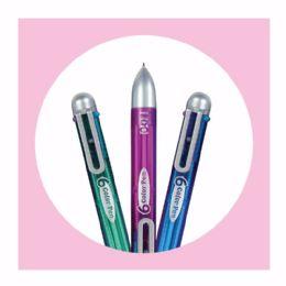 25 Bulk 1ct. 6-Color Pen