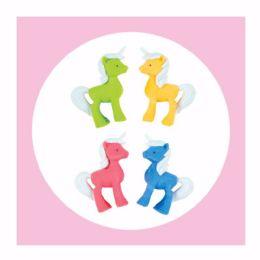 20 Bulk 4ct. 3D Unicorn Eraser Set