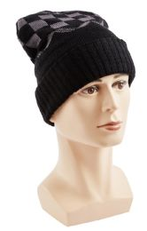 48 Units of Winter Checkered Beanie - Winter Hats