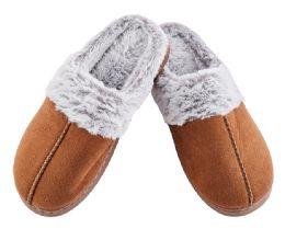 24 Bulk Suede Furry Men's Slipper