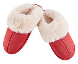 24 Bulk Suede Furry Women's Slipper