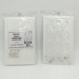 12 Units of PREMIUM PEVA SHOWER CURTAIN W/ HOOKS - Bathroom Accessories
