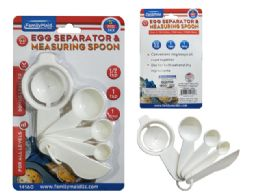 144 Units of 5pc Egg Separator & Measuring Spoon - Measuring Cups and Spoons