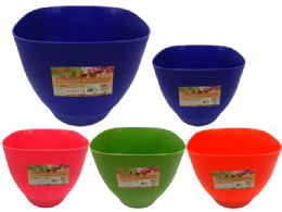 24 Units of Flower Pot Planter With Base - Garden Planters and Pots