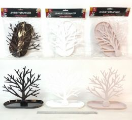 36 Units of PL. HOLDER TREE DESIGN JEWELRY 3 ASST CL 18ST/CS - Home Decor