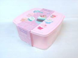 6 Units of PLASTIC CAKE/CUP CAKE STORAGE BOX SQUARE 6ST/CS - Storage & Organization