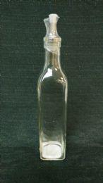 24 Bulk GLASS OIL DISPENSER SQ BASE W/ SS SPOUT