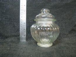 48 Units of GLASS JAR W/ LID AND LINES 24ST/CS - Storage & Organization
