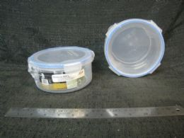 48 Units of PLASTIC CONTAINER RD W/ TAB SEAL 48ST/CS - Storage & Organization