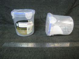 48 Units of PLASTIC CONTAINER RD. TALL W/TAB SEAL 48ST/CS - Storage & Organization
