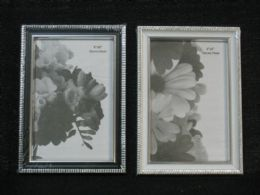 36 Units of PLASTIC PHOTO FRAME -- DOUBLE SILVER 4X6 36PC/CS - Picture Frames