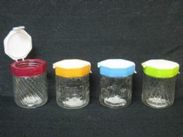 48 Units of GLASS JAR W/ FLIP SEAL LID ASST DESIGN/CLR 48ST/CS - Storage & Organization
