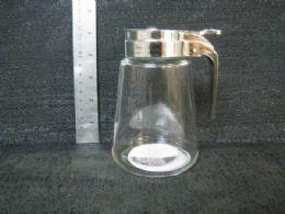 24 Bulk GLASS JAR, SYRUP DISPENSER WITH HANDLE 24PC/CS
