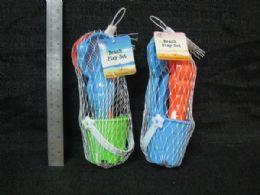 48 Units of PLASTIC BEACH PLAY SET 5PC 24ST/CS - Tote Bags & Slings