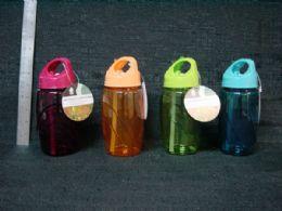 24 Units of PLASTIC WATER BOTTLE W/ STRAW 500ML 24ST/CS - Drinking Water Bottle