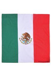 60 Units of KNOCKER CLASSIC COTTON BANDANA/MEXFLAG - Bandanas