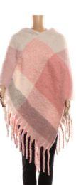 24 Units of Womens Luxurious Large Thick Plaid Pashmina Wrap - Winter Pashminas and Ponchos