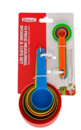 24 Units of 10 Piece Measuring Spoons And Cups Set - Measuring Cups and Spoons