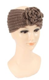 36 Units of Warm Knitted Headband with Flower - Headbands