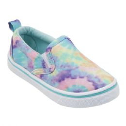 12 Units of Girl's Canvas Sneakers in Rainbow Ombre - Girls Sneakers