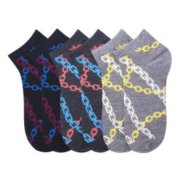 432 Units of MAMIA SPANDEX SOCKS (CHAINS) 9-11 - Womens Ankle Sock