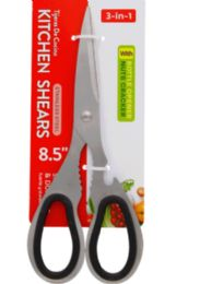 24 Units of Stainless Steel 3 In1 Kitchen Scissors 8.5 Inch - Kitchen Gadgets & Tools
