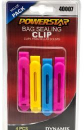 48 Wholesale Bag Sealing Clips 4 Pieces 3 Inch