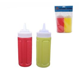 24 Units of Plastic 2 Pieces Mustard And Ketchup Bottle - Kitchen Gadgets & Tools
