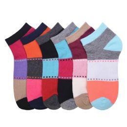 432 Units of MAMIA SPANDEX SOCKS (DIVIDE) 6-8 - Girls Ankle Sock