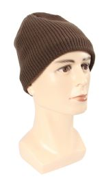 36 Units of Men's Winter Hat with Straight Edges and Vertical Strips - Winter Hats