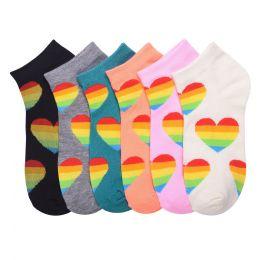 432 Units of MAMIA SPANDEX SOCKS (RHEART) 6-8 - Girls Ankle Sock