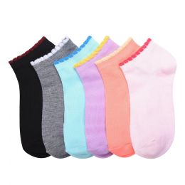 432 Units of MAMIA SPANDEX SOCKS (SCSOLID) 6-8 - Girls Ankle Sock