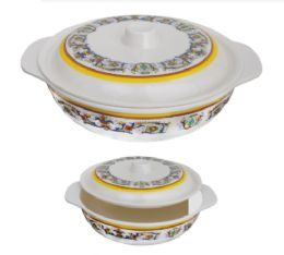 24 Units of 8.5 Inch Covered Bowl With Handle - Serving Trays