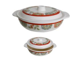 24 Units of 8.5 inch Covered Bowl With Handle - Plastic Bowls and Plates