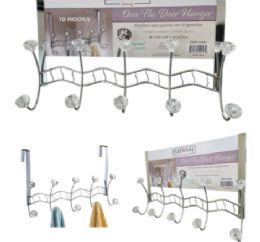 12 Units of Clear Crystal Over Door Hooks - Hooks