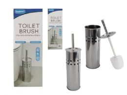 12 Units of Toilet Brush Stainless Steel - Cleaning Supplies