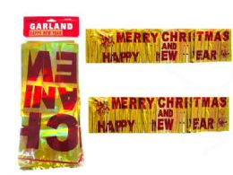 288 Wholesale Garland Merry Christmas Foil