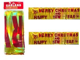 288 Wholesale Garland Happy New Year Foil
