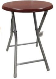 10 Units of Wooden Folding Stool Without Back-Cherry 18 Inch - Home Accessories