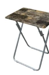 6 Units of 19x15 Snack Table-Marbleized - Home Accessories