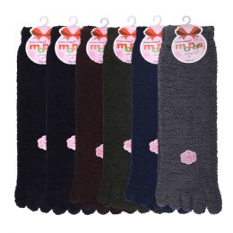 120 Units of MOPAS LADIES POLYESTER WINTER TOE SOCKS 9 -11 - Womens Thermal Socks
