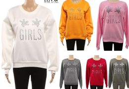 24 Units of Women's Long Sleeve Soft Sweaters with Girls Logo - Womens Sweaters & Cardigan