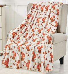 12 Units of Fall Printed Fleece Throw 50x60 - Fleece & Sherpa Blankets