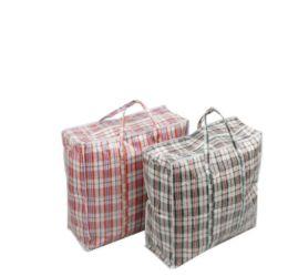 36 Units of Zipper Plastic Bag With Stripe 21.5X20.5X7 - Tote Bags & Slings