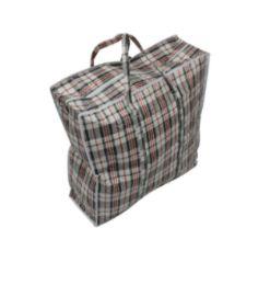 36 Units of Zipper Plastic Bag With Stripe 24X24X7 - Tote Bags & Slings