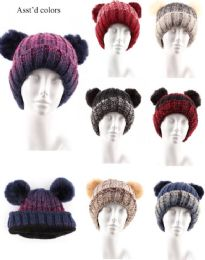 36 Units of Womens Winter Hat Assorted Colors - Winter Hats